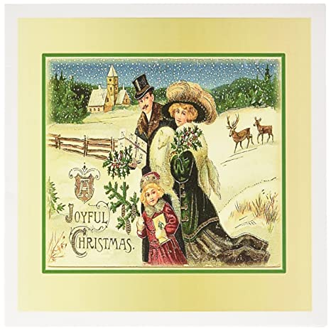 Amazon 3drose print of victorian family christmas framed in 3drose print of victorian family christmas framed in gold greeting cards set of 12 m4hsunfo