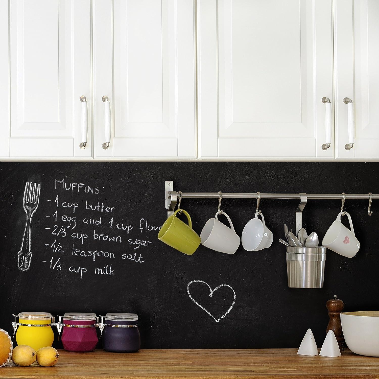 Amazon.de: Selbstklebende Tafelfolie - Kreidetafel Küche - DIY ...