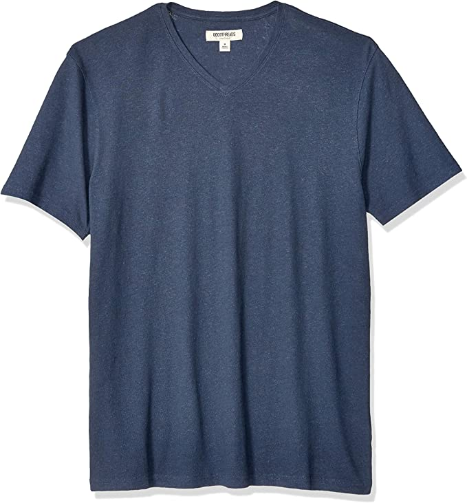 Marca Amazon - Goodthreads - Camiseta de algodón de lino con ...