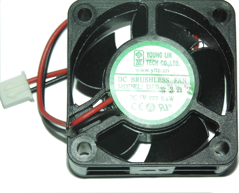 Zyvpee 40x40x20mm DFB402005M 4cm 5V 0.16A 0.8W 9858RPM 26dBA 2Wire Cooling Fan
