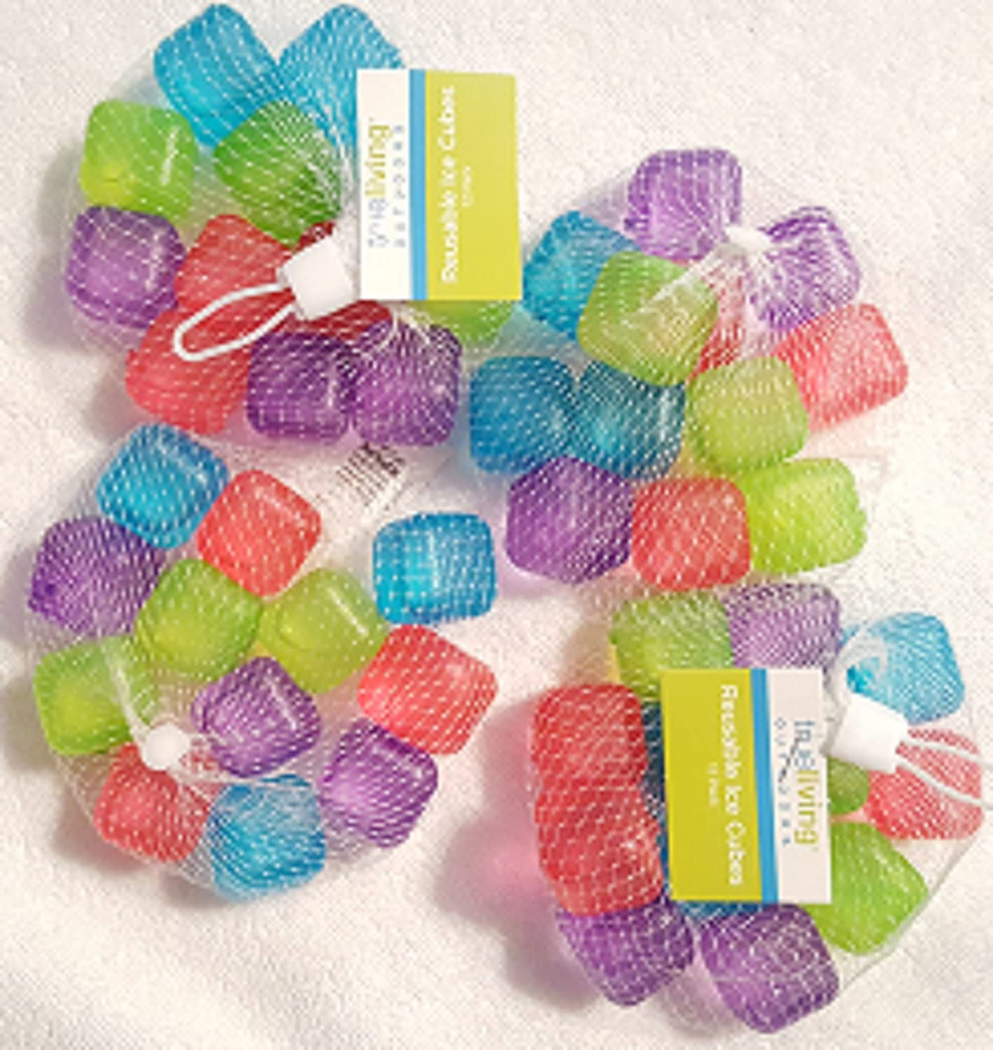 Reusable Plastic Ice Cubes - Colors May Vary (48 cubes)