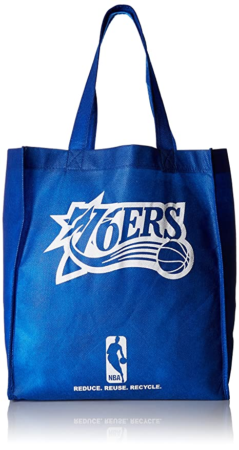 20363b9a0d Buy NBA Philadelphia 76ers Printed Non-Woven Polypropylene Reusable Grocery  Tote Bag, One Size, Blue Online at Low Prices in India - Amazon.in