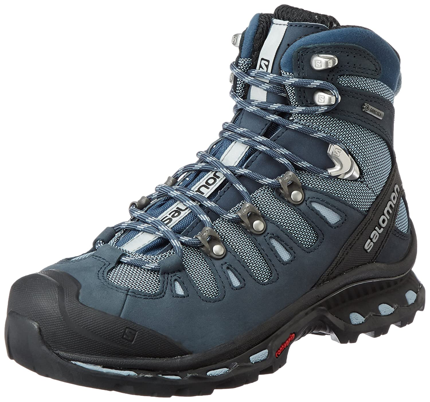 Salomon Women's Quest 4D 2 GTX Hiking Boot B00PRNQGKS 9.5 B(M) US|Deep Blue/Stone Blue/Light Onix