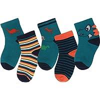ANIMQUE Calcetines de algodón para niños de 1 a 12 años Muchachos Chicas Calcetines diarios básicos de tripulación…