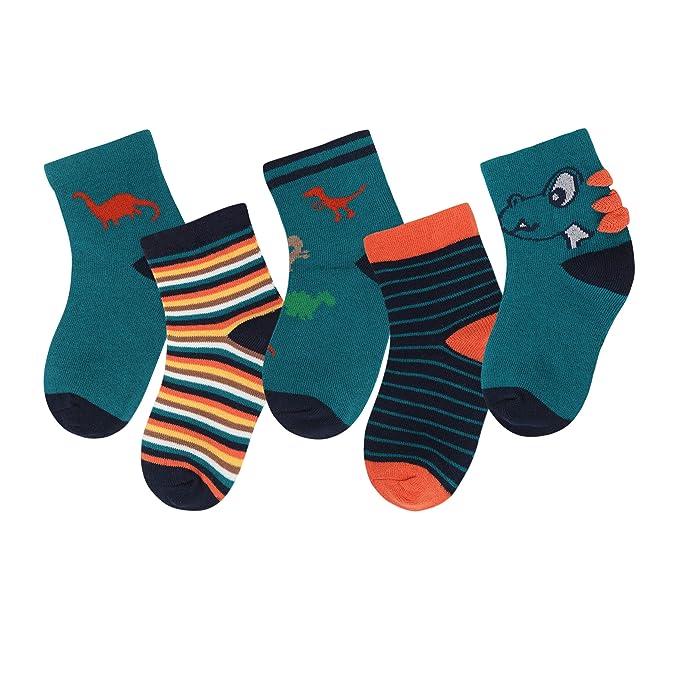 Adorel Kids Boys Cotton Ankle Socks Pack of 10