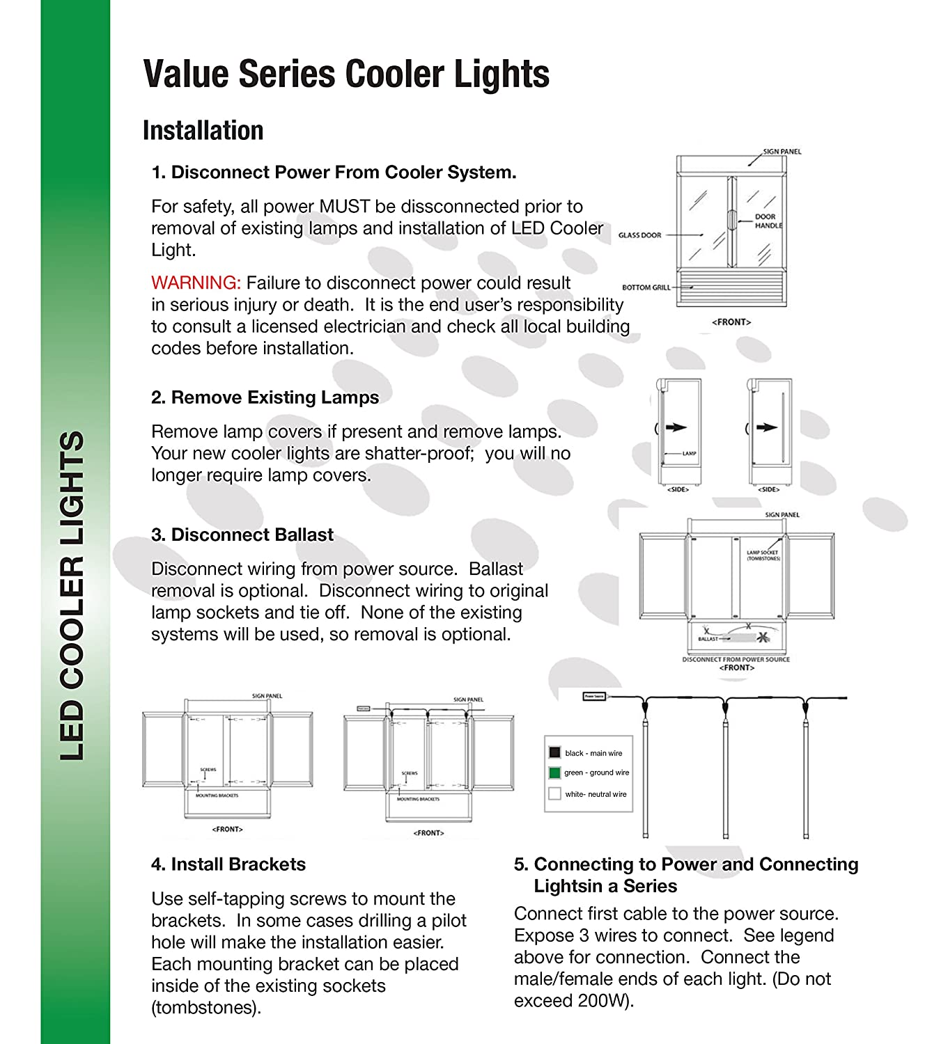 Beyond Led Bltcl28w69in5k 28w 3000 Lm 69 Value Series Cooler Wiring Parallel Vs Light Etldlc Qualified Input Voltage 100 277v Operating Temperature 4 104f