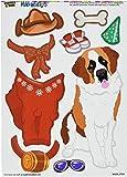 Graphics and More 'St Bernard Saint Dress-Up' Dog Pet Funny MAG-NEATO'S Novelty Gift Paper Doll Locker Refrigerator Vinyl Magnet Set