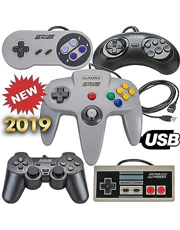 New 2019: 5 USB Classic Controllers - Nintendo (NES), Super Nintendo (
