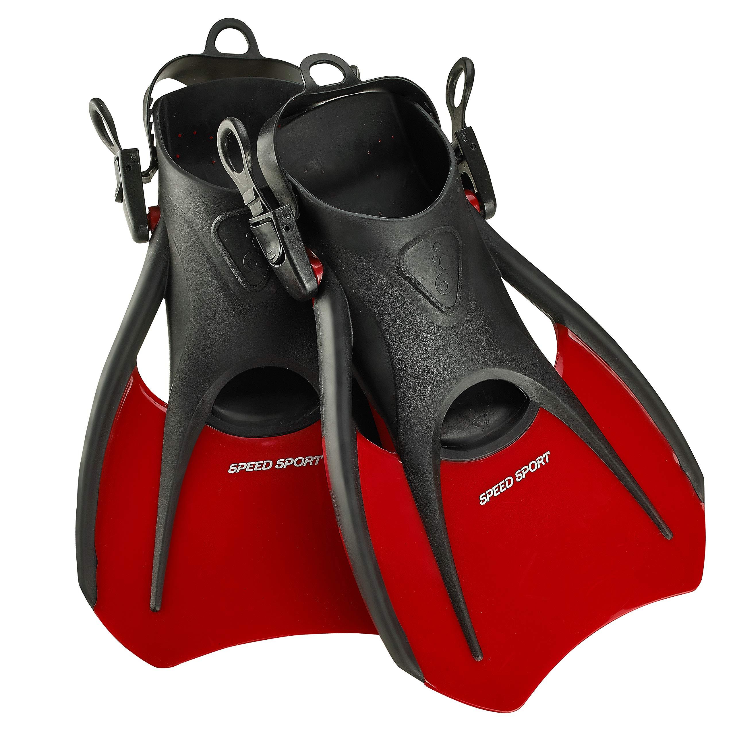 Phantom Aquatics Snorkeling Diving Fins - Open Heel Traveling Sport Fins - RD-SM by Phantom Aquatics
