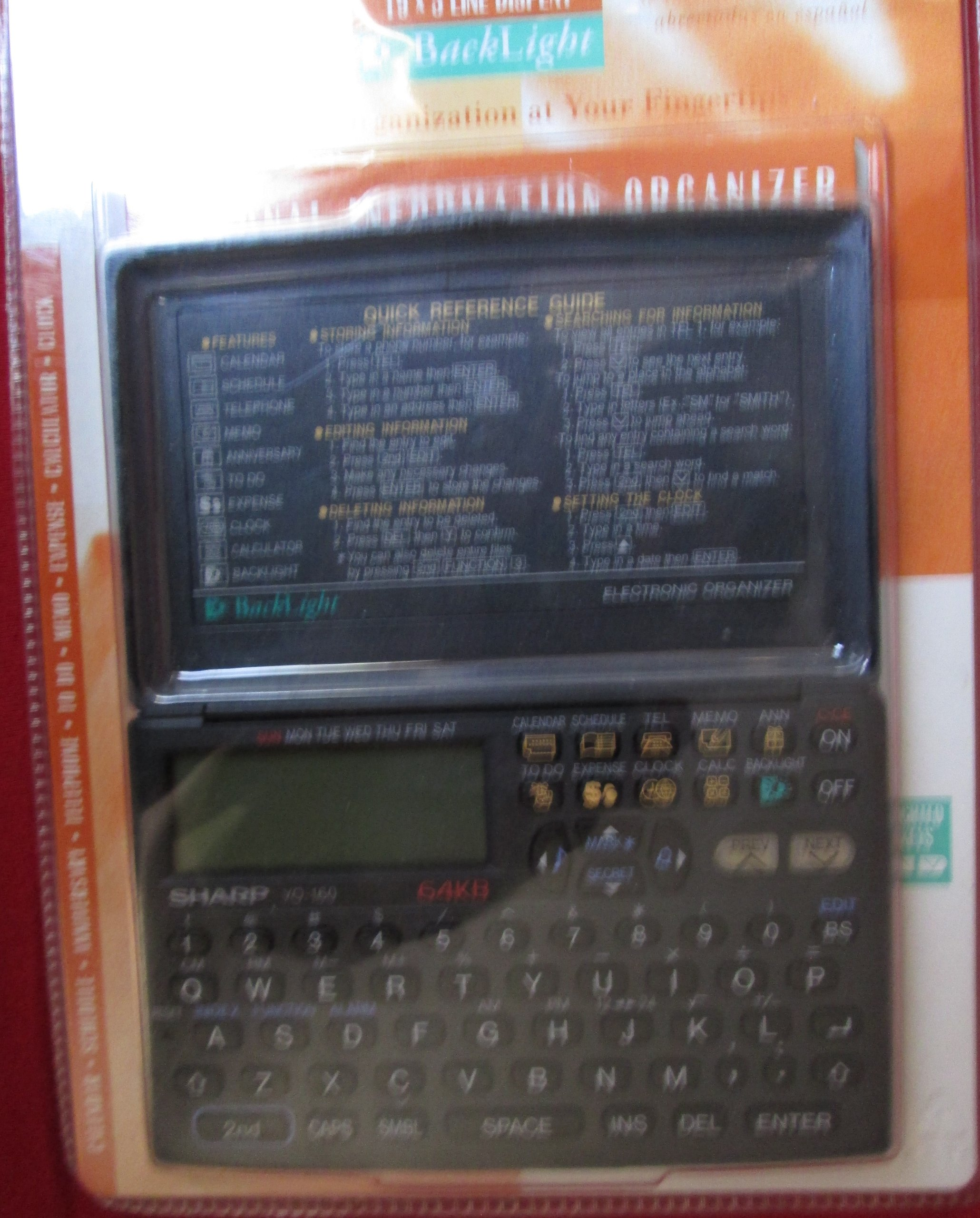 Sharp 64kb Personal Information Organizer Yo-160