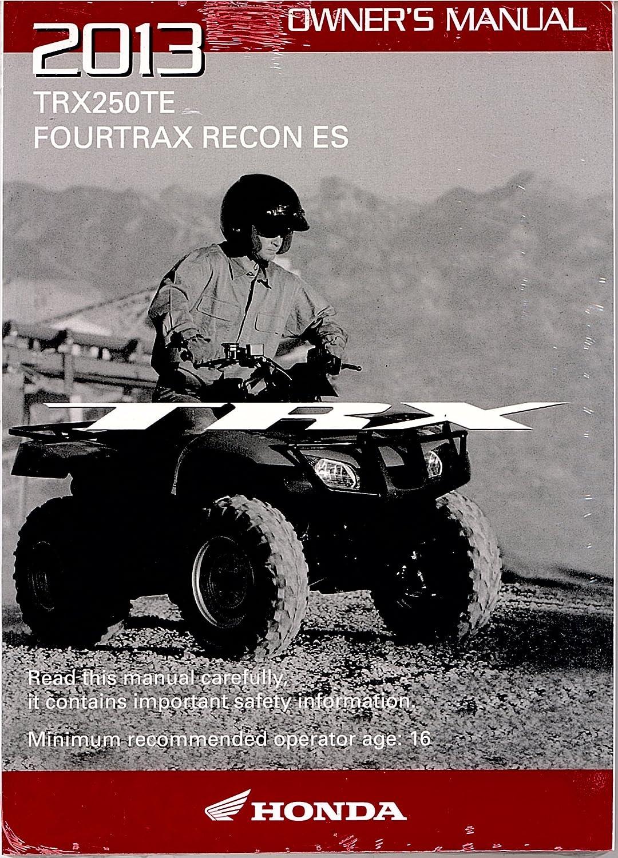 Amazon.com: Genuine Honda ATV Owners Manual 2013 TRX250TE Recon: Automotive