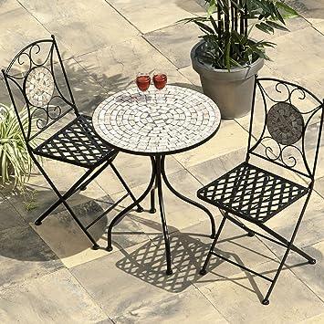 2 persona 60 cm Casablanca Bistro juego de muebles de jardín mesa y ...
