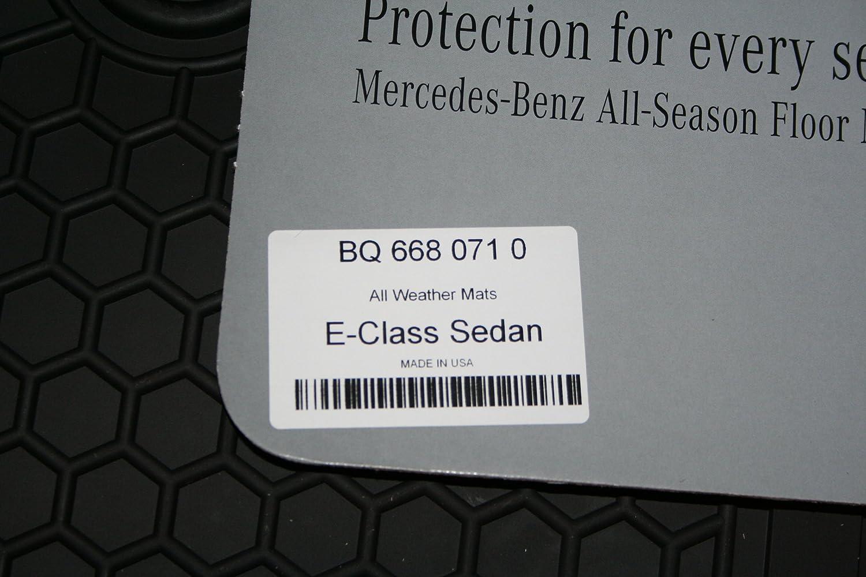 Genuine Mercedes-Benz Q6680710 - Rubber Floor Mats W212 E250 E350 E400 E550 SEDAN & WAGON Black