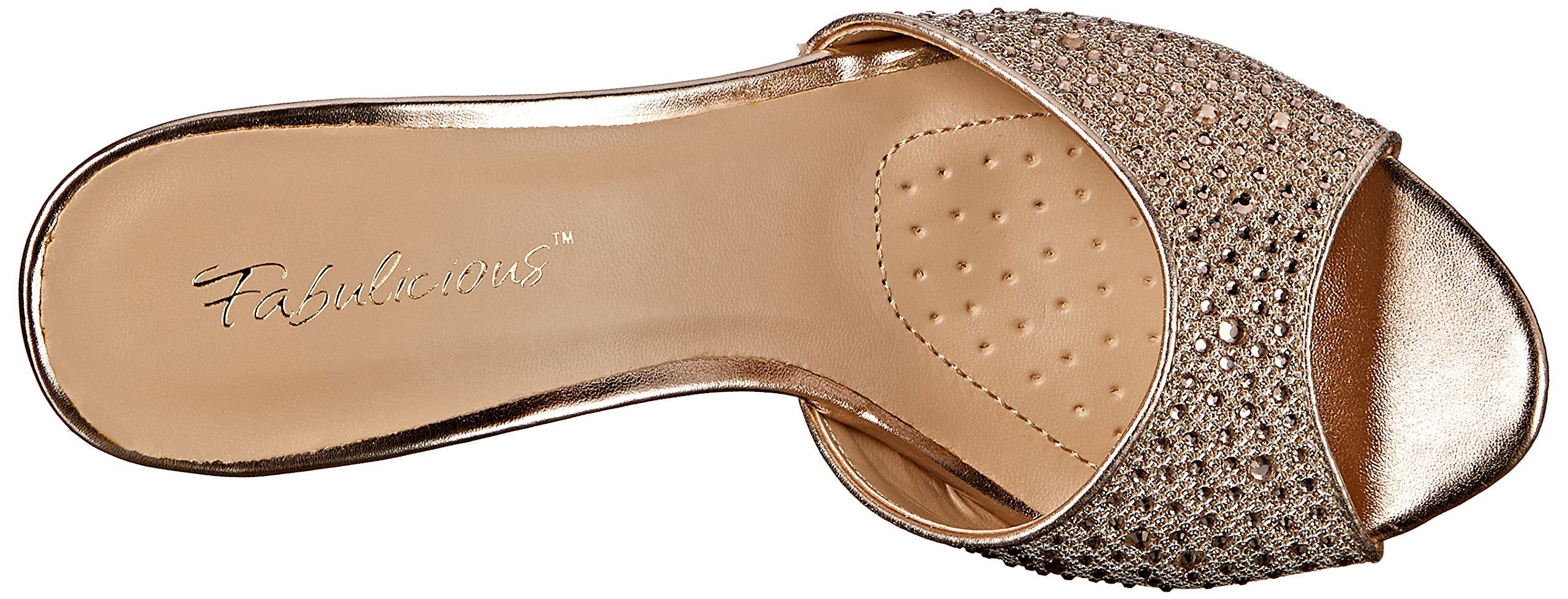 Fabulicious Women's LUCY01/Ggfa Dress Sandal, Gold Glitter Mesh Fabric, 9 M US by Fabulicious (Image #8)
