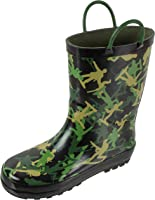 Rainbow Daze Rain Boots for Kids with Easy-on Handles, Waterproof, for Toddlers & Little Kids, Age 2 to 9