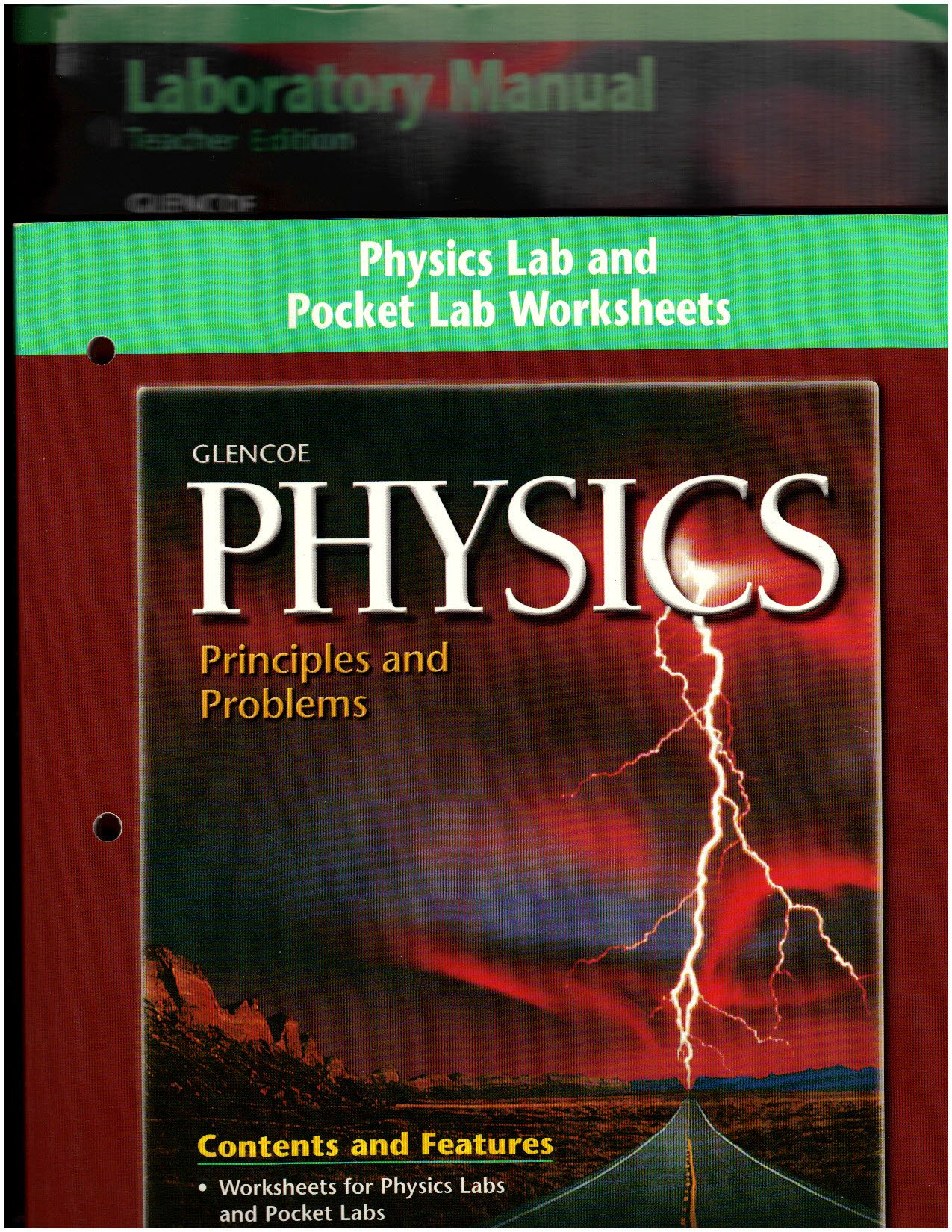 Teacher's Edition Laboratory Manual; 2. Physic Lab and Pocket Lab  Worksheets (both volumes include ANSWERS to lab exercises): Glencoe:  Amazon.com: Books