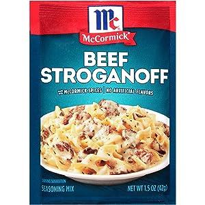 McCormick Beef Stroganoff Seasoning Mix, 1.5 oz (Pack of 12)