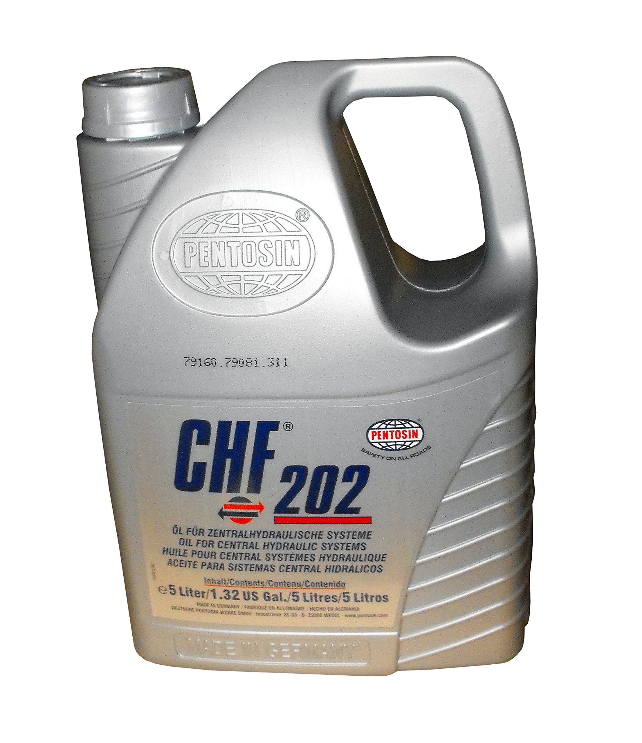 Pentosin 1403206-C CHF 202 Synthetic Hydraulic Fluid, 5 L, 3 Pack by CRP Automotive