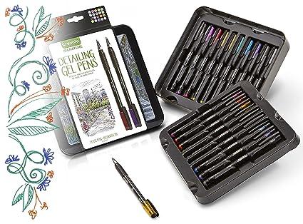 Crayola Detailing Gel Pens Extra Fine Point Metallic And Glitter Gel Pen Set Gift