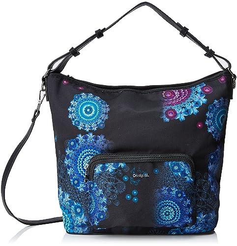 Bols_bollywood Olesa Womens Shoulder Bag Black (Negro) 14x33x30.2 cm (B x H x T) Desigual H3zfEiIyW