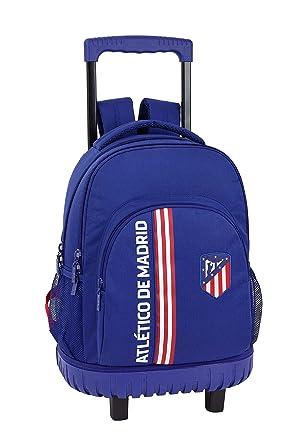 """Atlético de Madrid """"In Blue"""" Oficial Mochila Escolar Grande Con Ruedas 320x140x460mm"""