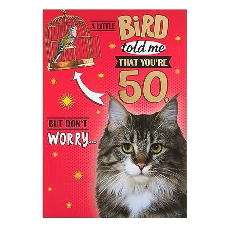 Hallmark Biglietto Di Auguri Per Il Cinquantesimo Compleanno Motivo