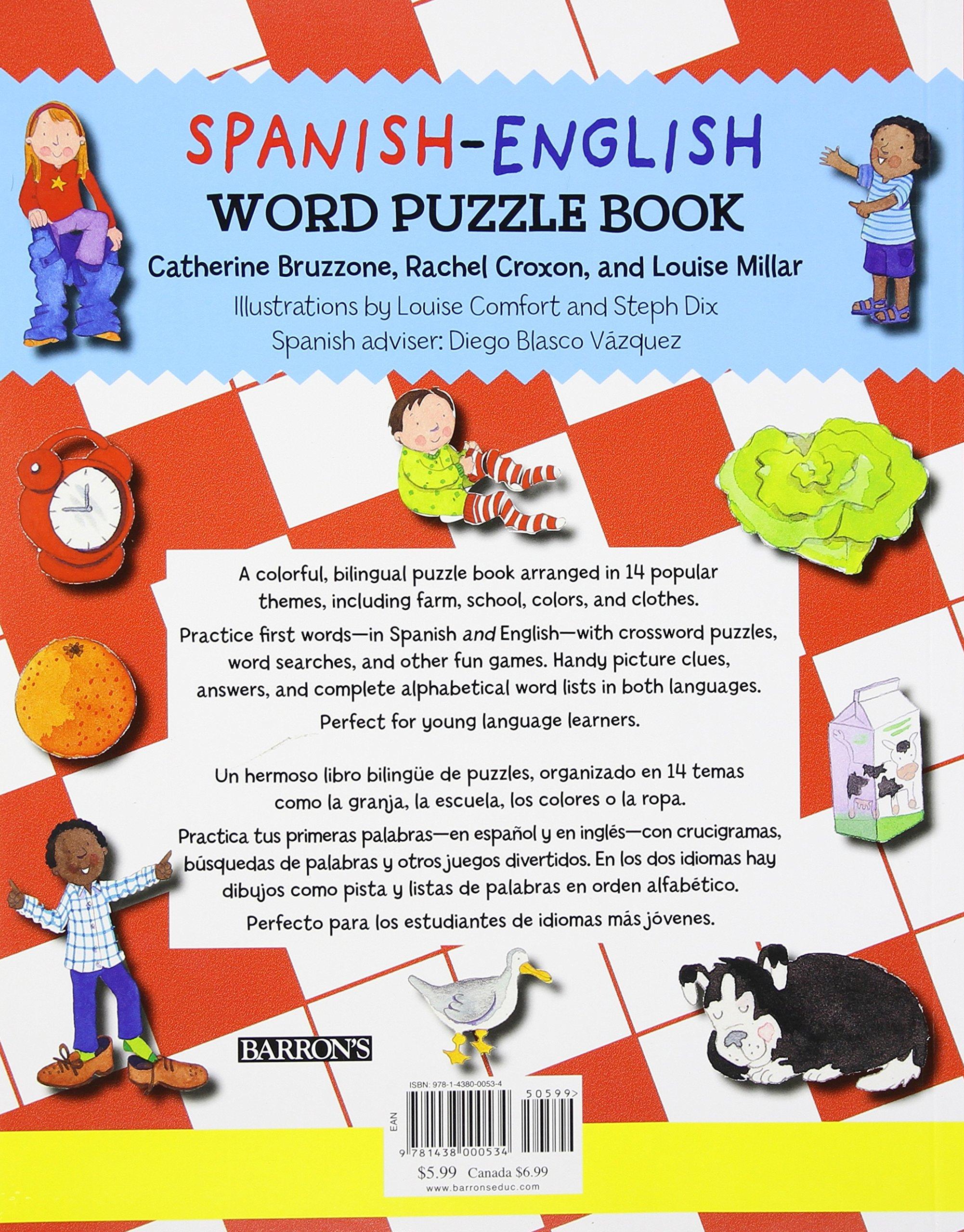 Spanish-English Word Puzzle Book: 14 Fun Spanish and English Word Games (Bilingual Word Puzzle Books) (Spanish Edition)