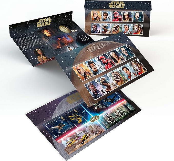Royal Mail - Paquete de presentación de Star Wars (sellos fijos), APR470: Amazon.es: Oficina y papelería
