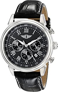 I By Invicta Mens 90242-001 Stainless Steel Watch with Black Band