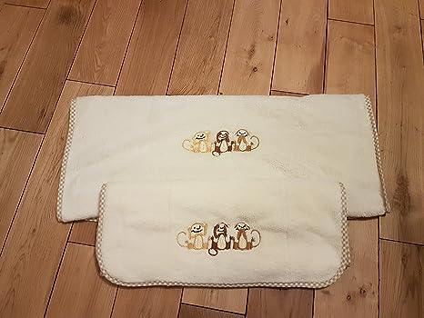 Mono bordado toalla de niños, 50 x 80 cm