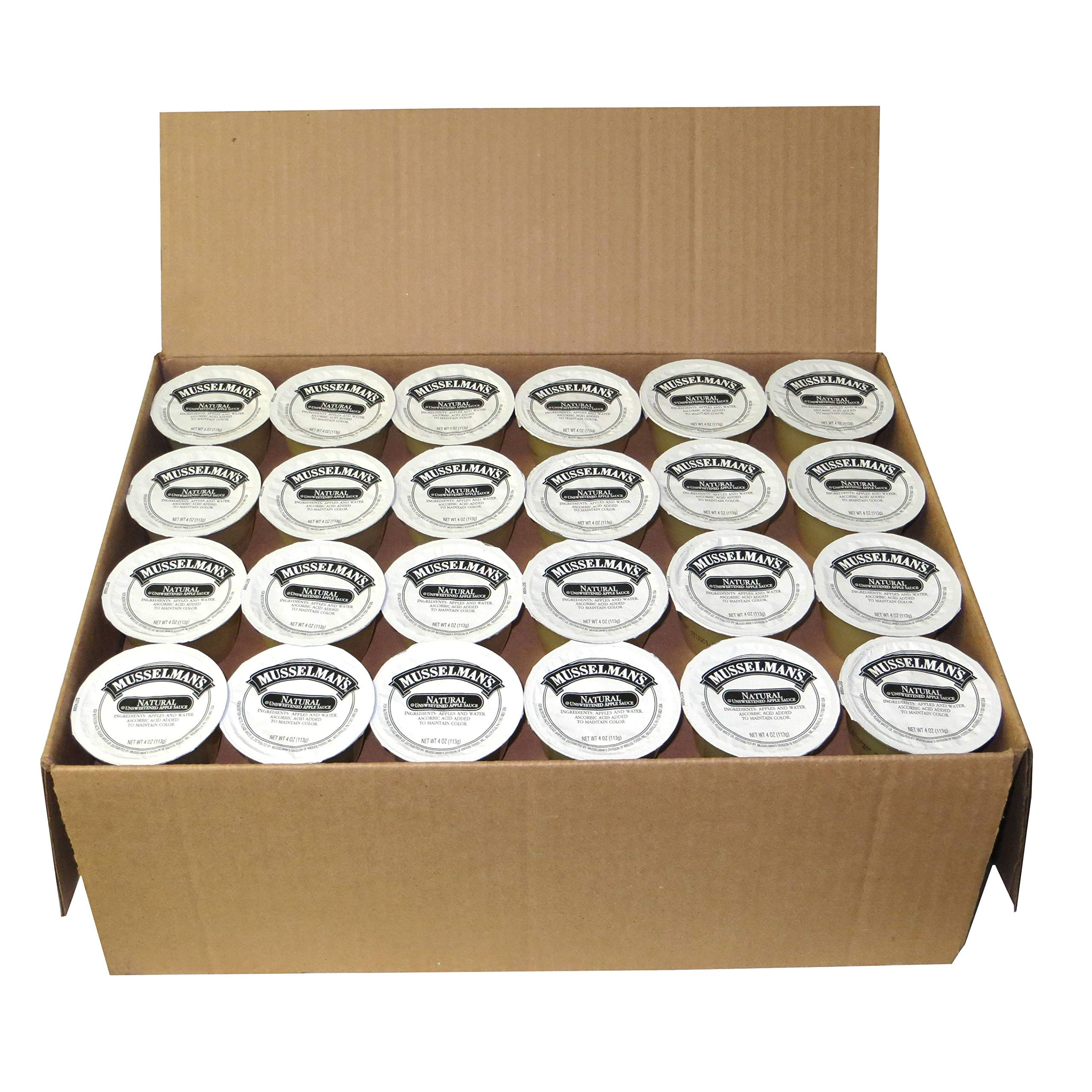 Musselman's Natural, Unsweetened Applesauce, 4-Ounce Packages (Pack of 72) by Musselmans (Image #1)