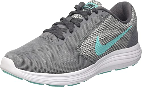 Nike Revolution 3, Zapatillas de Running para Mujer, Multicolor (Cool Grey/Aurora Green-Dark-White), 42 EU: Amazon.es: Zapatos y complementos