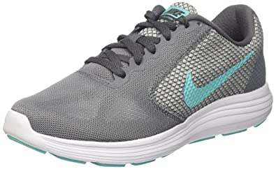 new style 04138 80123 Nike Revolution 3, Chaussures de Running Compétition Femme, Multicolore  (Cool Grey Aurora