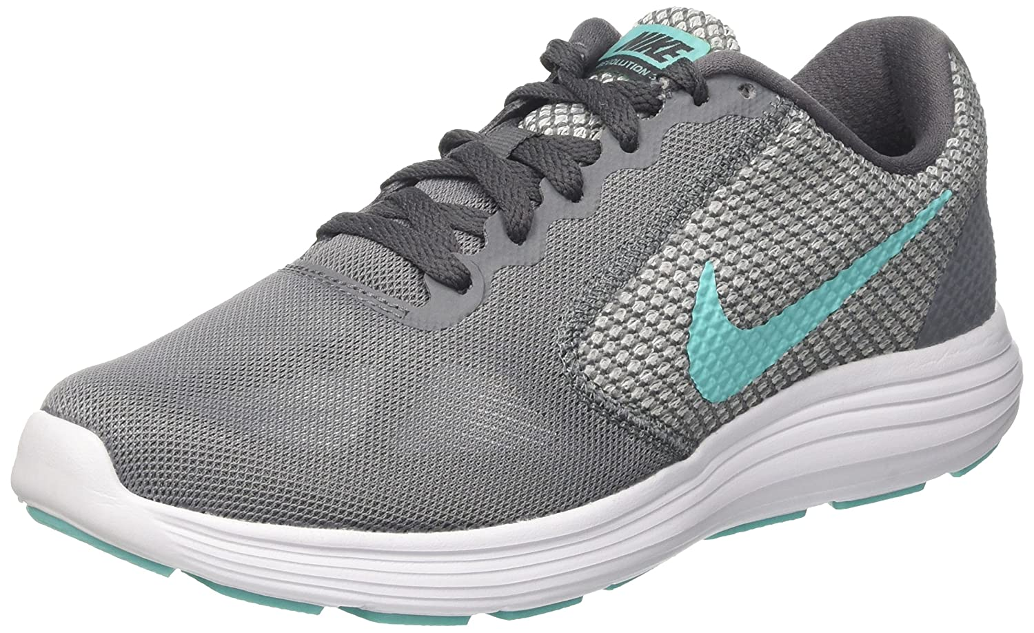 NIKE Women's US|Cool Revolution 3 Running Shoe B007NALJ5A 8.5 B(M) US|Cool Women's Grey/Aurora Green/Dark Grey/White 47d9ee
