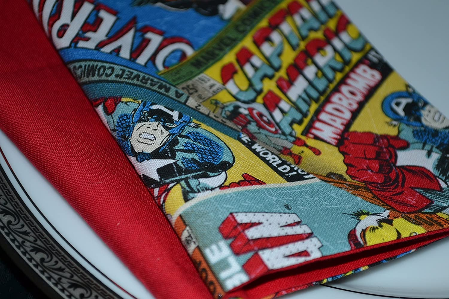 Superheros Unite Reversible Cloth Napkins/Set of 4