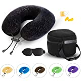 AERIS Memory Foam Travel Pillow for Airplanes - Best Airplane Neck Pillow for Long Flights - Plane Accessories Easy to…