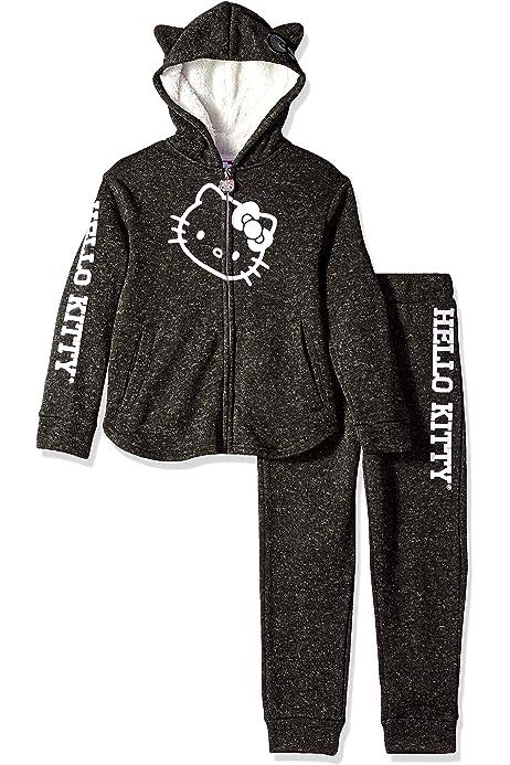 Reebok Girls Lace Up Spun Poly Fleece Hooded Pullover Q/_3312