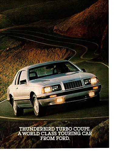 Amazon.com: Magazine Print ad: 1983 Ford Thunderbird Turbo Coupe,