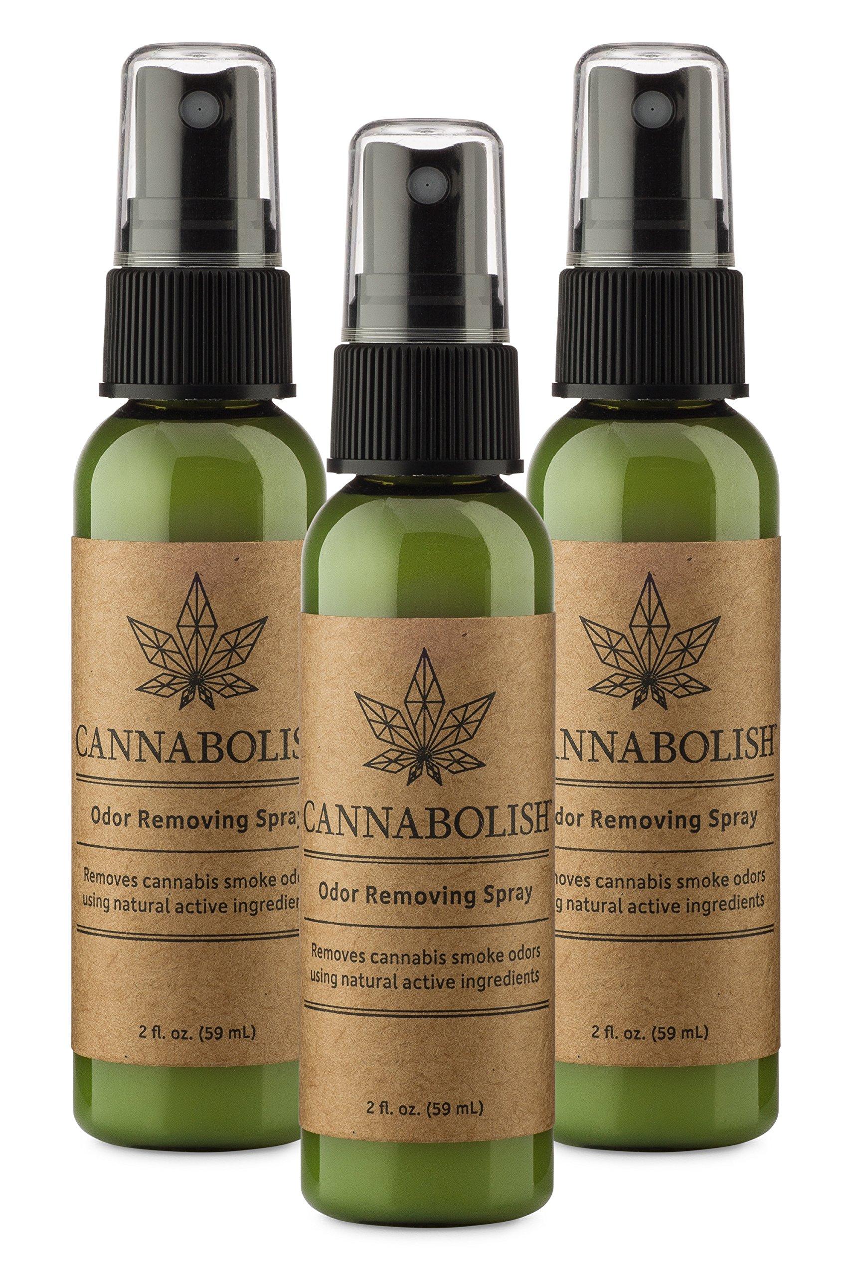 Cannabolish Cannabis Smoke Odor Removing Spray, 2 fl. oz. Travel Size (Pack of 3)
