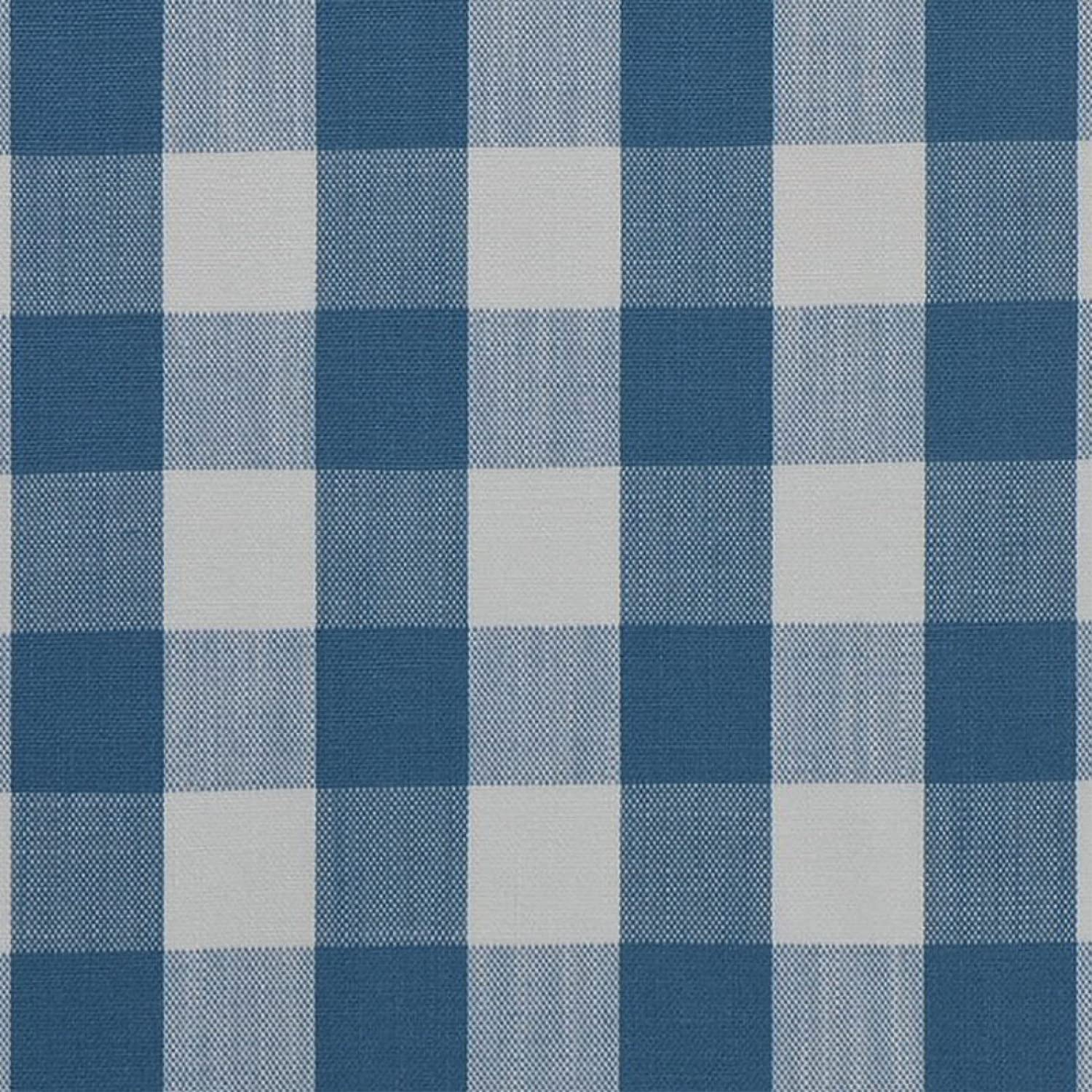Amazon Com Surf Blue Plaid Woven Upholstery Fabric By The Yard