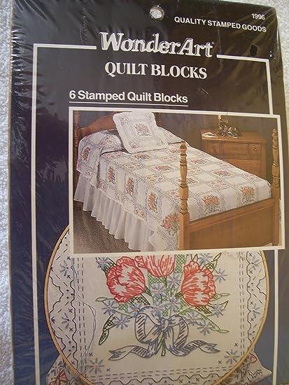 Amazon Tulip Bouquet Stamped Cross Stitch Quilt Blocks Kit