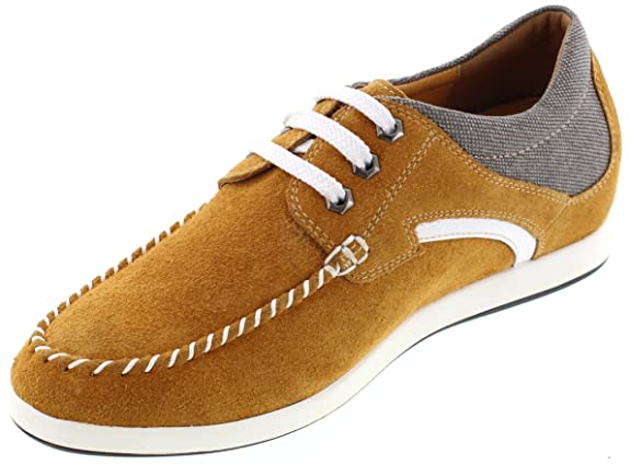 TOTO - D305293 - 2.4 Inches Taller - Height Increasing Elevator Shoes - Nubuck  Brown Lightweight Casual Shoes: Amazon.ca: Shoes & Handbags