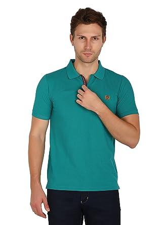 size 40 63946 443ea Uni Colors Polo Men's Half Sleeves Polo T-Shirts in Johny Collar Pattern  (Billiard)