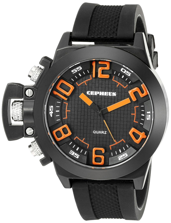CEPHEUS Herren-Armbanduhr XL Analog Quarz Silikon CP901-622E