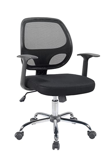 Unique Mesh Computer Chair With Arms Btexpert Mid Back Swivel Office Desk Task Chrome Base And Black T To Ideas