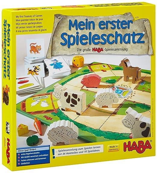 Die große Spielesammlung HABA Mein erster Spieleschatz Lernspielzeug