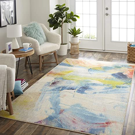 Mohawk Canvas Art Area Rug 5 X8 Multicolored Furniture Decor