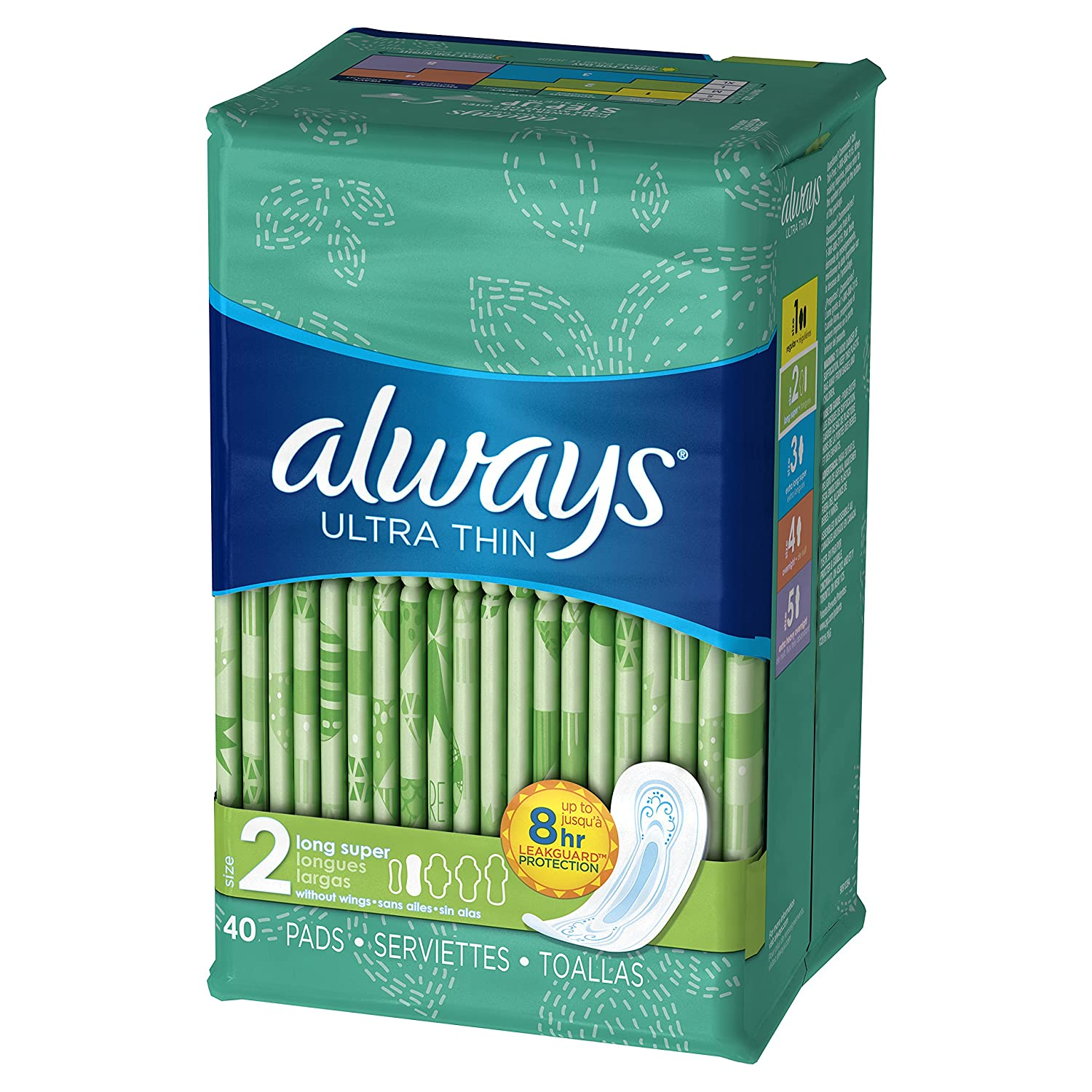 Amazon.com: Always Ultra Thin Size Feminine Pads with Wings: Health & Personal Care