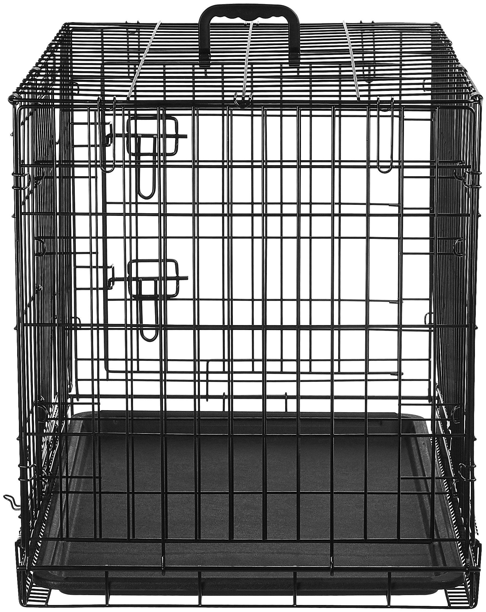AmazonBasics Double-Door Folding Metal Dog Crate - 30 Inches by AmazonBasics (Image #6)