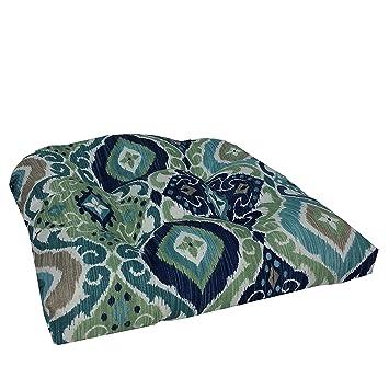 Superbe Brentwood Originals 35406 Indoor/Outdoor Wicker Chair Cushion, Fresca Teal